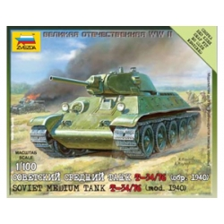 1/100th (15mm) Russian T34/76 (1940) tank