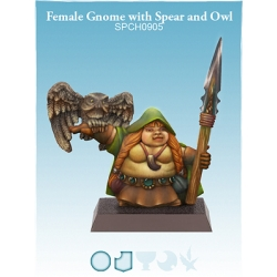 Female Gnome with Spear and Owl