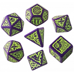 Pathfinder Goblin Purple & Green Dice Set (7)