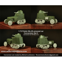 1:72 Polish Wz.28 Conversion with Crew