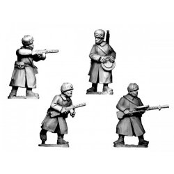 Russian Infantry SMGs and LMGs in Fur Hats