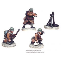 French 81mm Mortar and Crew