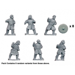 Bare Headed Saxon Warriors with Spears