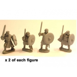 Irish Noble Warriors with Swords and Shields