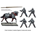 Mounted Men-at-Arms Lances Upright