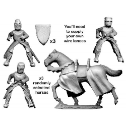 Mounted Knights with Lances Charging