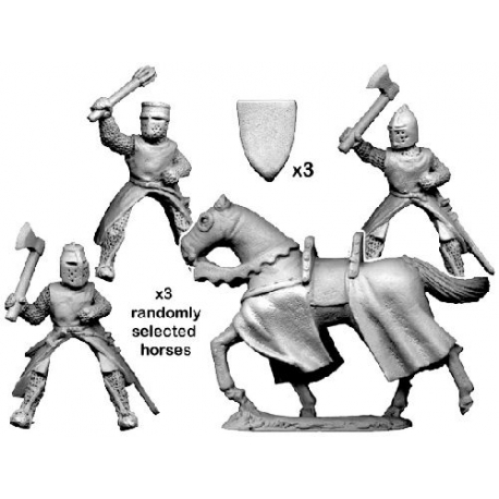 Mounted Knights with Axes and Maces