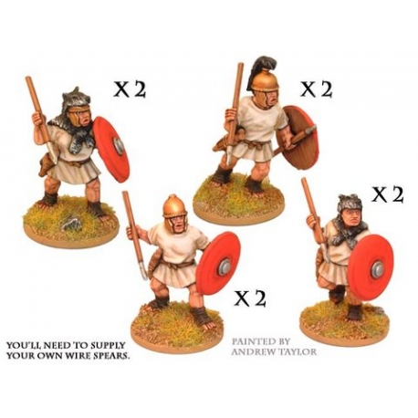 Roman Velites with Spears / Javelins and Shields