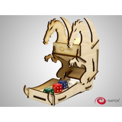 e-Raptor Dice Tower Dragon Wooden Small
