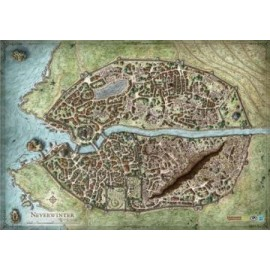D&D 4e: Neverwinter Campaign Map Vinyl Game Mat 30x42
