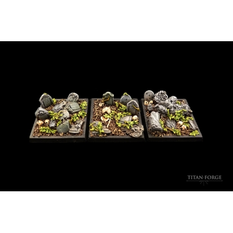 Graveyard Square Bases 40x40mm (3)