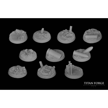 Trench Round Bases 25mm (7)