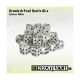 Pearl Battle Dice 35x Lifeless White 12mm