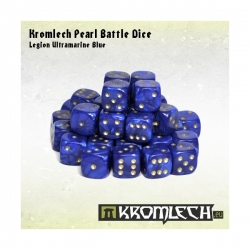 Pearl Battle Dice 35x Legion Ultramarine Blue 12mm