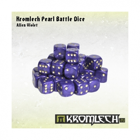 Pearl Battle Dice 35x Alien Violet 12mm