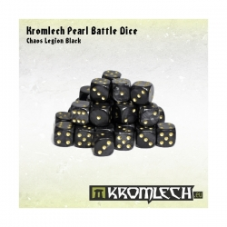 Pearl Battle Dice 35x Chaos Legion Black 12mm