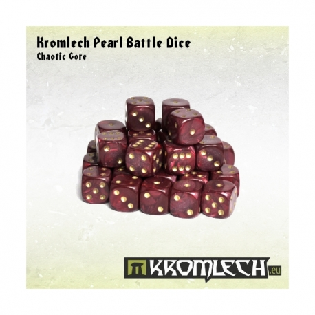 Pearl Battle Dice 35x Chaotic Gore 12mm