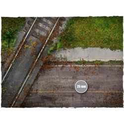 4ft x 6ft, Walking Dead Town Theme Mousepad Game Mat