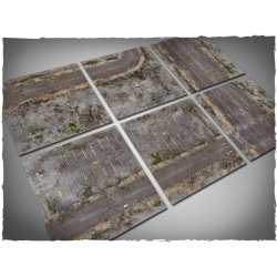 Set of 6 2ft x 2ft, Walking Dead City Theme Mousepad Game Mat