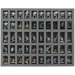 35mm (1.4 Inch) Full-size Foam Tray with 50 Slots for Miniatures with 25mm Base