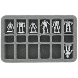 35mm (1.4 Inch) Half-size Foam Tray with 18 Slots for 12 BattleTech Mechs and Accessories