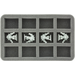 35mm Half-Size Foam Tray for 12 Zombicide Figures