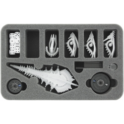 40mm (1.6 Inches) Half-size Foam Tray for Dropfleet Commander - Shaltari Battleships and Frigates + FREE Capsule for Pegs