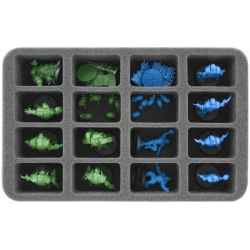 50mm (1.96 Inch) Half-size Foam Tray for 16 Blood Bowl Miniatures - 2016 Edition