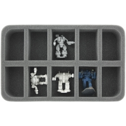 50mm (2 Inches) Half-size Foam Tray with 10 Slots for Huge Battletech Mechs