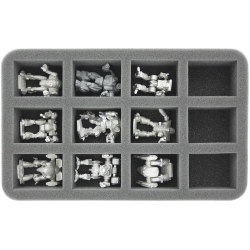 50mm (2 Inches) Half-size Foam Tray with 12 Slots for BattleTech Mechs