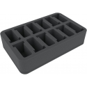 60mm (2.4 Inches) Half-size Figure Foam Tray with 12 Slots