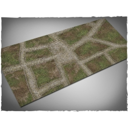 3ft x 6ft, Cobblestone Streets Theme Cloth Game Mat