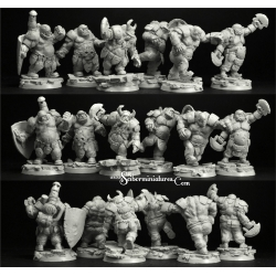 Ogre Players 6 Miniatures Set