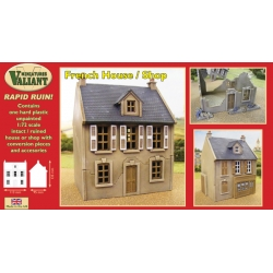 French House/Shop - 1/72nd Scale Damagable Plastic Building