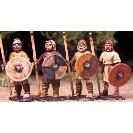 Anglo-Saxon Geburs with Spears and Shield