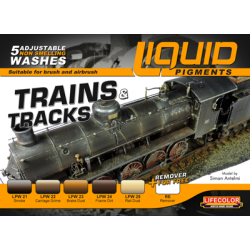 Liquid Pigment Trains & Tracks