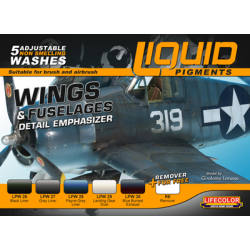 Liquid Pigment Wings & Fuselage