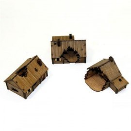 Pre-painted Damaged Log Village