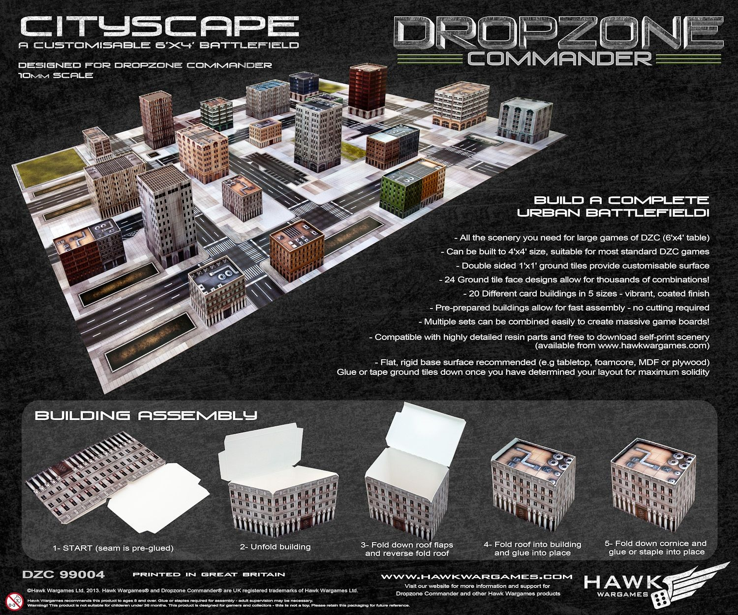 Dropzone Commander Cityscape Terrain Pack - Dropzone Essentials