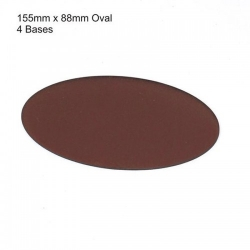 155mm x 88mm Oval Bases
