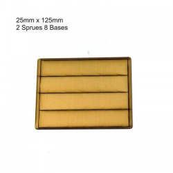 25mm x 125mm Bases