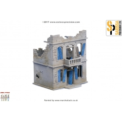20mm Destroyed Two Story North African House
