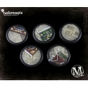 Malifaux Lucius Office Base Tops - 30mm