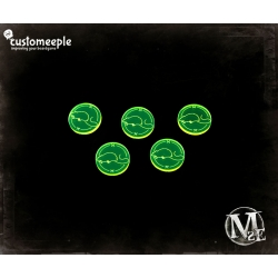 Malifaux Blight Markers - Fluorescent Green