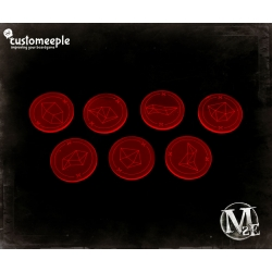 Malifaux Soulstone Markers - Fluorescent Red