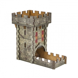 Colour Medieval Dice Tower