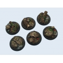 Round Wide Lip Forest 40mm Bases (2)