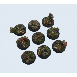 Round Wide Lip Forest 30mm Bases (5)