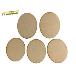 120mm x 95mm Oval Bases (5)