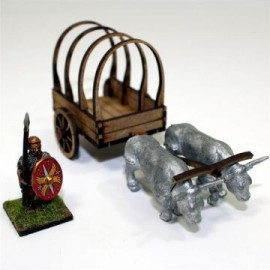 Unpainted Roman Ox Cart